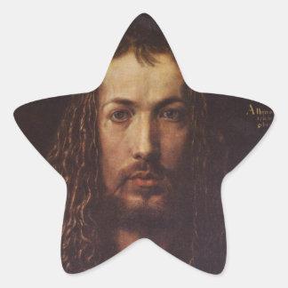 Dürer Portrait Star Sticker