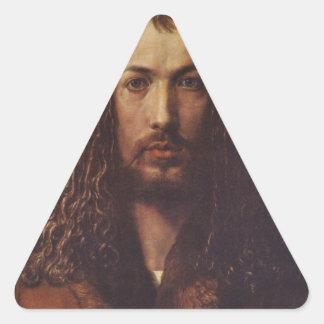 Dürer Portrait Triangle Sticker