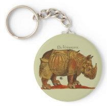 Durer's Rhinoceros Keychain
