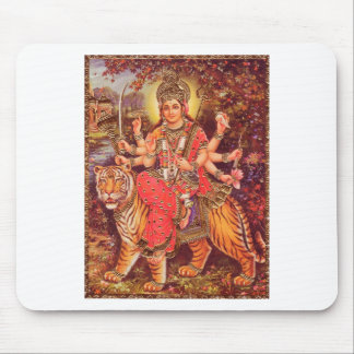 DURGA AND THE TIGER MOUSE PAD