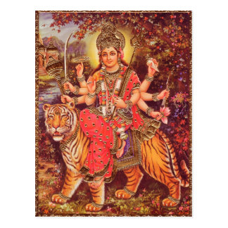 DURGA AND THE TIGER POST CARDS