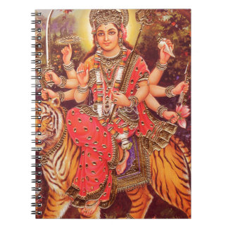 DURGA AND THE TIGER SPIRAL NOTEBOOK