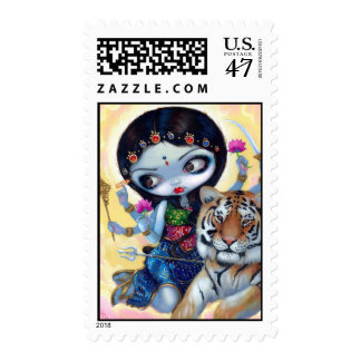 """""""Durga and the Tiger"""" Stamp"""