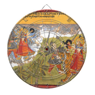 Durga fights the Daitya Raja Dart Board