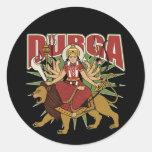 Durga hindú etiqueta redonda