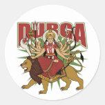 Durga hindú etiquetas redondas