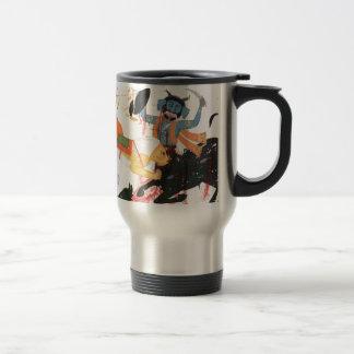 Durga que mata a un demonio taza de viaje de acero inoxidable
