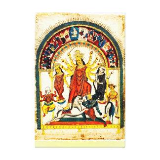 Durga, the Destroyer of Evils Canvas Print