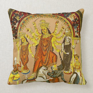 Durga, the Destroyer of Evils Throw Pillow