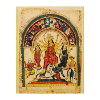 Durga, the Destroyer of Evils Wood Print