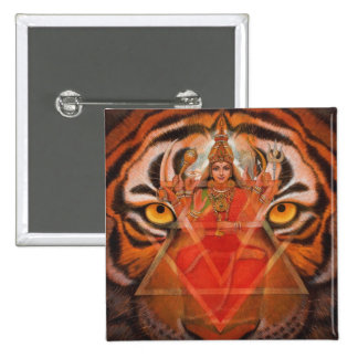 Durga & Tiger Button