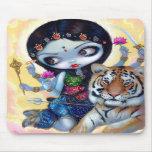 """Durga y el tigre"" Mousepad Tapetes De Raton"