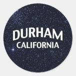 Durham California Round Sticker