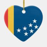 Durham, Carolina del Norte, Estados Unidos Adorno De Cerámica En Forma De Corazón