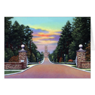 Durham Carolina del Norte Univ. Campus del oeste Tarjeta De Felicitación
