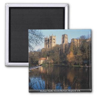 Durham Castle, County Durham, England, U.K. 2 Inch Square Magnet