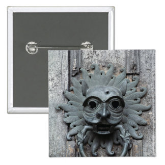 Durham Cathedral Sanctuary Knocker 2 Inch Square Button
