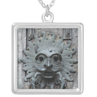 Durham Cathedral Sanctuary Knocker Silver Plated Necklace