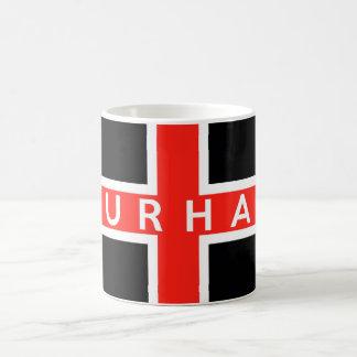 durham city flag england british text name mugs