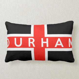 durham city flag england british text name throw pillow