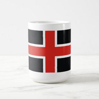 durham city flag united kingdom town british coffee mug