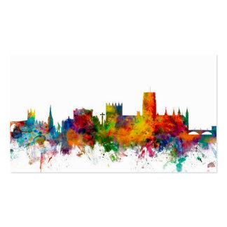 Durham England Skyline Cityscape Business Card