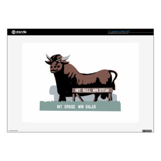 """Durham NC Bull 15"""" Laptop Decals"""