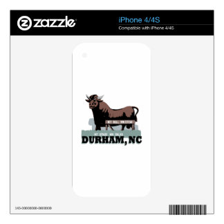 Durham NC Bull Decals For The iPhone 4S