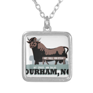Durham NC Bull Silver Plated Necklace