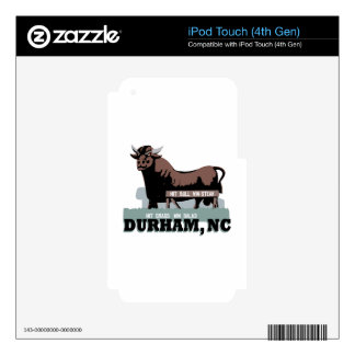 Durham NC Bull Skin For iPod Touch 4G
