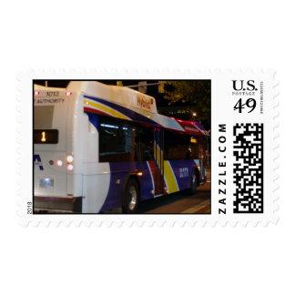 Durham NC city bus Postage stamps
