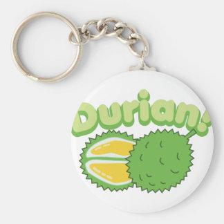 Durian Basic Round Button Keychain