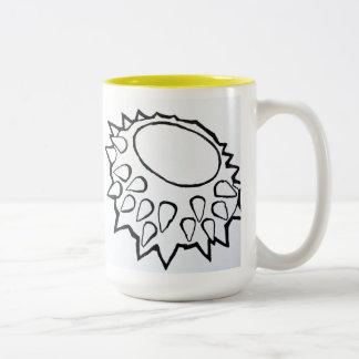 """Durian Bowl"" Two-Tone Coffee Mug"