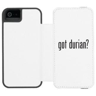 durian conseguido funda cartera para iPhone 5 watson