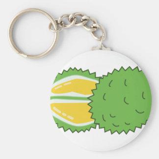 Durian Fruit Basic Round Button Keychain