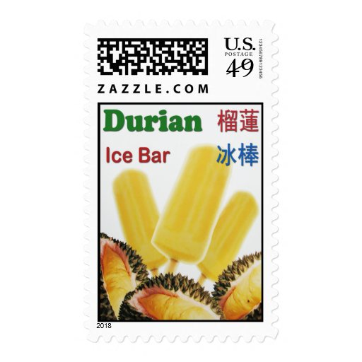 Durian Ice Bar Tropical Fruit Popsicle Postage | Zazzle