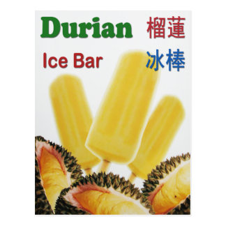 Durian Ice Bar Tropical Fruit Popsicle Postcards