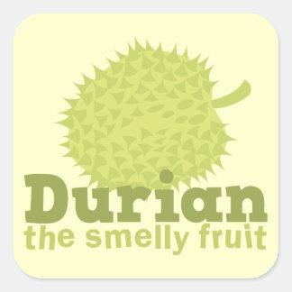 Durian la fruta hedionda (de Asia sudoriental) Calcomanía Cuadradas Personalizada