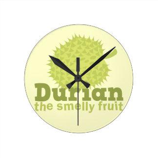 Durian la fruta hedionda (de Asia sudoriental) Reloj Redondo Mediano
