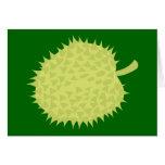 ¡Durian la fruta hedionda! NP Tarjeton
