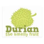Durian la fruta hedionda postal