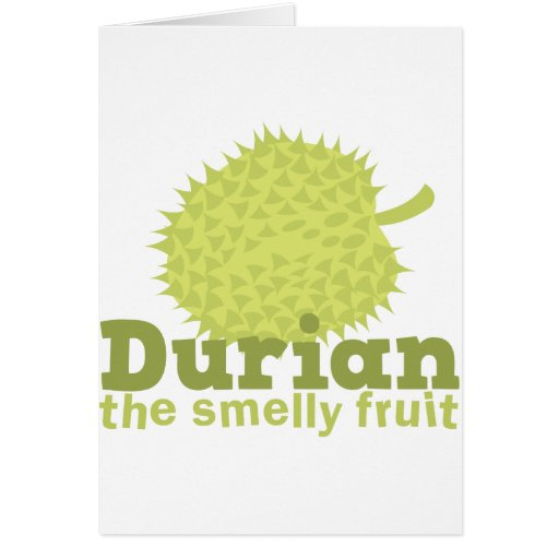 Durian la fruta hedionda tarjeta de felicitación