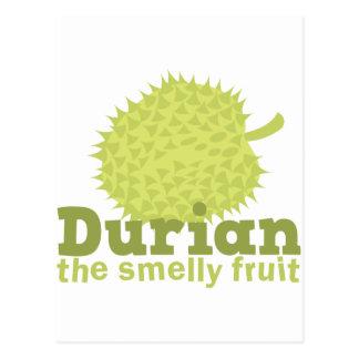 Durian la fruta hedionda tarjeta postal