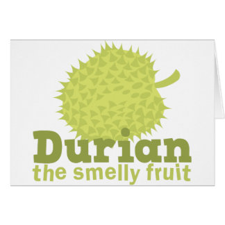 Durian the smelly fruit card