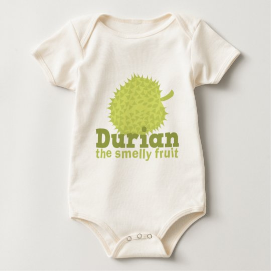 Durian the Smelly Fruit (from South east Asia) Baby Bodysuit