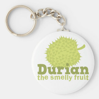 Durian the Smelly Fruit (from South east Asia) Basic Round Button Keychain