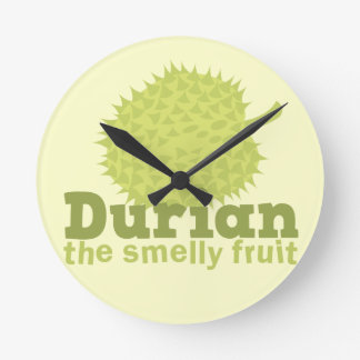 Durian the Smelly Fruit (from South east Asia) Round Wall Clock