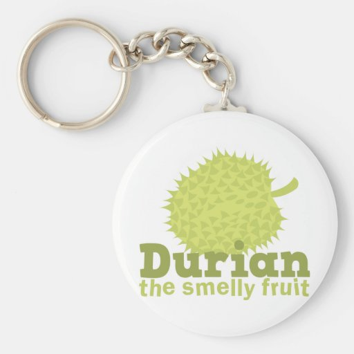 Durian the smelly fruit basic round button keychain