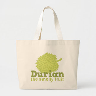 Durian the smelly fruit large tote bag