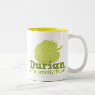 Durian the smelly fruit Two-Tone coffee mug